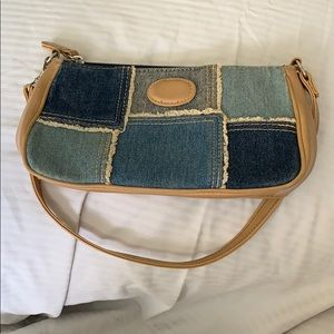 Chateau Denim Patchwork with Faux Leather Purse